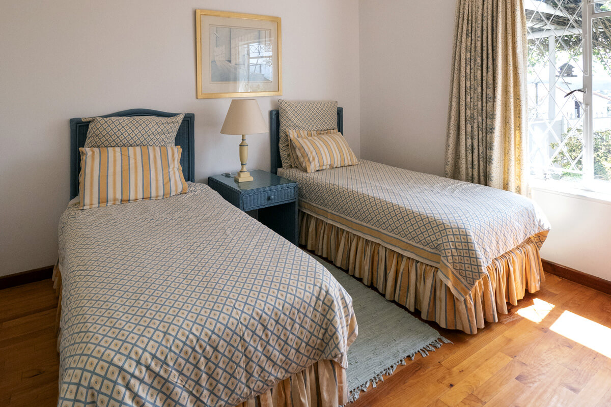 Bedroom at House Tsara self catering holiday accommodation Plettenberg Bay